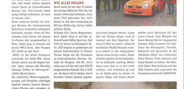 PLUS Bezirkszeitung – Toller Saisonstart für Bernd Zanon